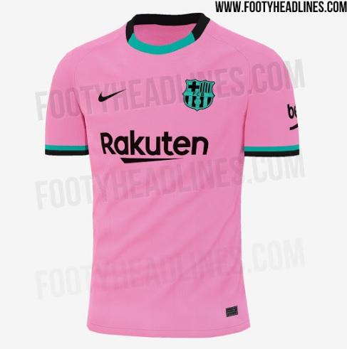 طرح پیراهن سوم بارسلونا